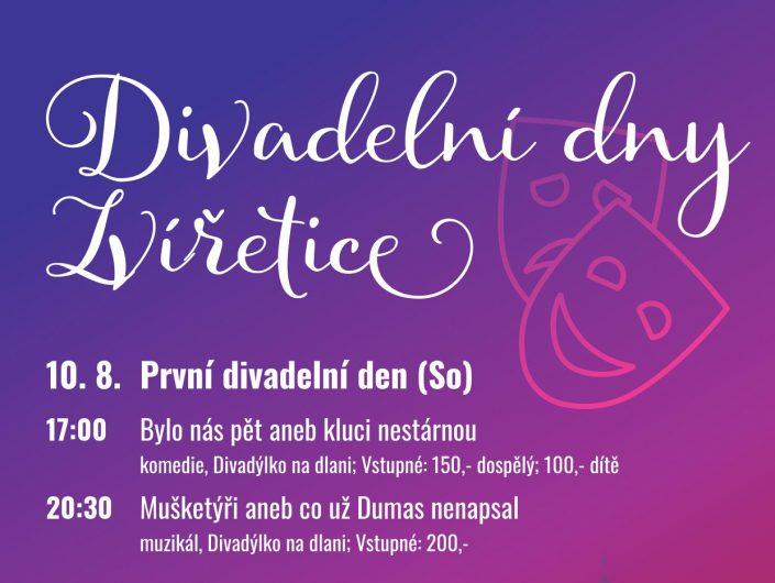 Divadelní dny 10.8. a 30.8.